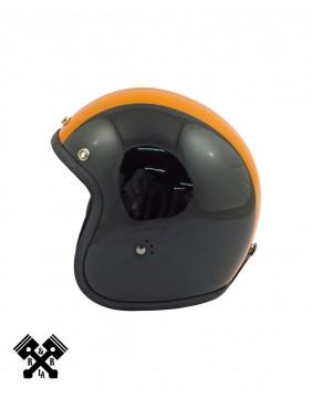 Casco Bandit Jet Race Negro / Naranja izq