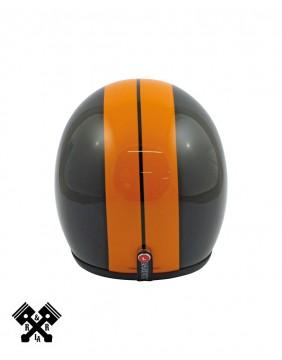 Casco Bandit Jet Race Negro / Naranja detras