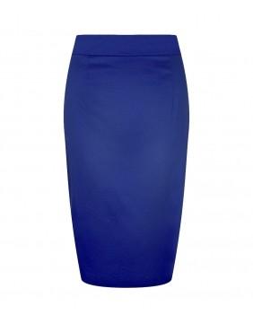 Falda Tubo Polly Clásica Azul, marca Collectif, vista frontal