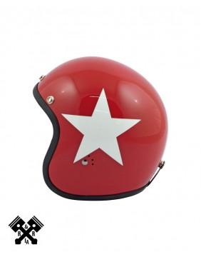 Casco Bandit Jet Estrella Blanca, perfil