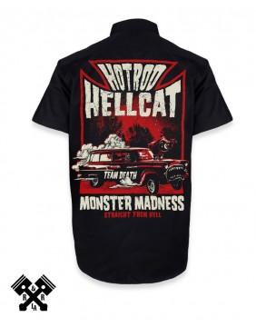 Hotrod Hellcat Monster Madness Work Shirt back