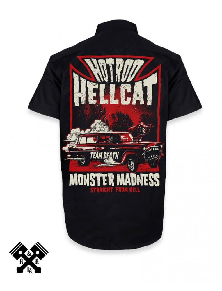 Hotrod Hellcat Camisa Monster Madness trasera