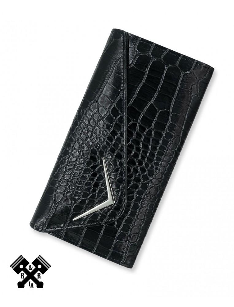 Liquorbrand Faux Crocodile Wallet