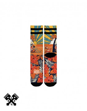 Calcetines Summer Paradise marca American Socks, detalle impresión