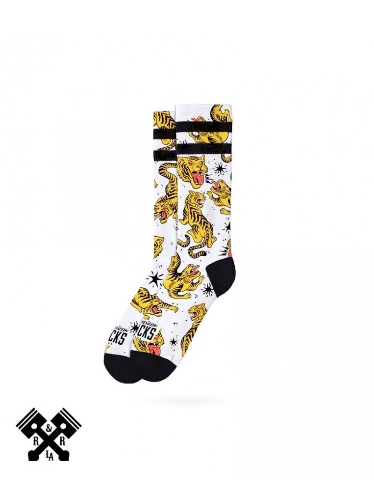 American Socks Calcetines Tiger King Medio-Alto