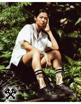 American Socks Calcetines Tiger King Medio-Alto, chica