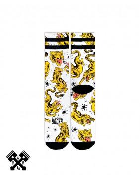 American Socks Calcetines Tiger King Medio-Alto, detalle