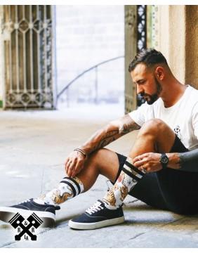 American Socks Calcetines Tiger King Medio-Alto, chico