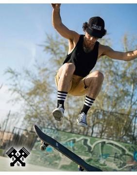 American Socks Calcetines Back in Black II Medio-Alto, skater
