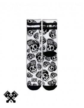 American Socks Calcetines Skater Skull Medio-Alto