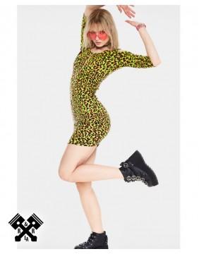 Jawbreaker Neon Leopard Fitted Dress, profile