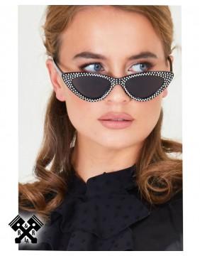 Voodoo Vixen Gafas Negras Dolly Sparkle principal