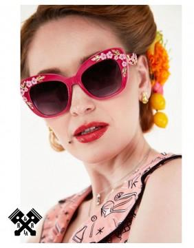 Voodoo Vixen Decorative Floral Glasses model
