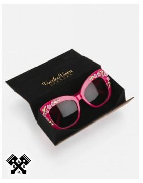 Voodoo Vixen Decorative Floral Glasses main case