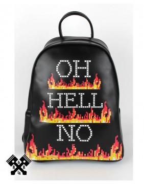 Mochila Oh Hell No!! marca Jawbreaker, vista frontal