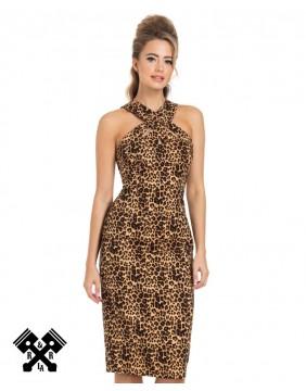 Vestido Lauren Leopardo marca Voodoo Vixen, vista frontal