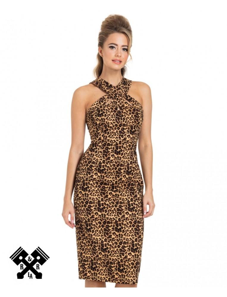 Voodoo Vixen Lauren Leopard Dress, front view
