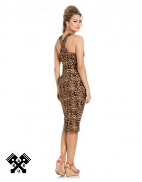 Voodoo Vixen Lauren Leopard Dress, rear view