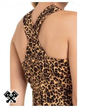 Voodoo Vixen Lauren Leopard Dress, detail back
