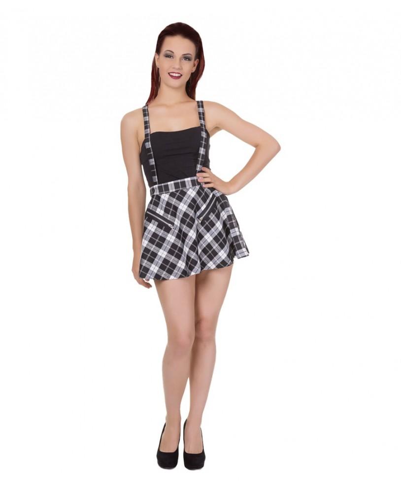Banned Highlife Pinafore Mini Skirt