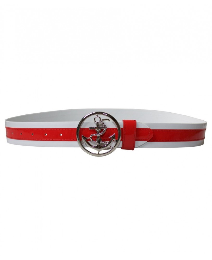 Collectif Skipper Belt Red for woman