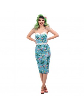 Collectif Monica Tropical Flamingo Dress