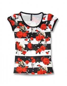 Liquorbrand Camiseta Skulls N Roses