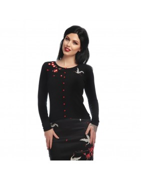 Collectif Jo Crane & Blossom Cardigan